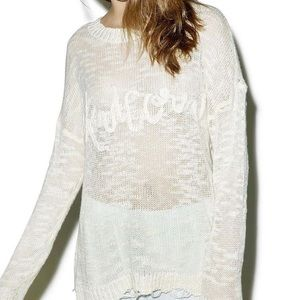 NWT Wildfox Unicorn Dreams Sweater